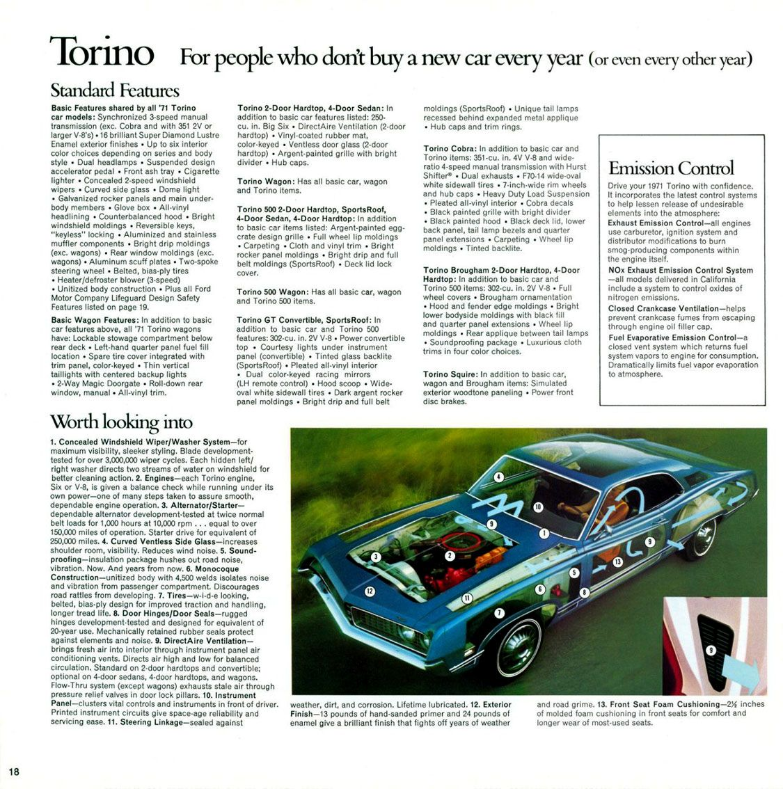 71 Ford Torino Brochure Ford Torino Fairlane Galaxie
