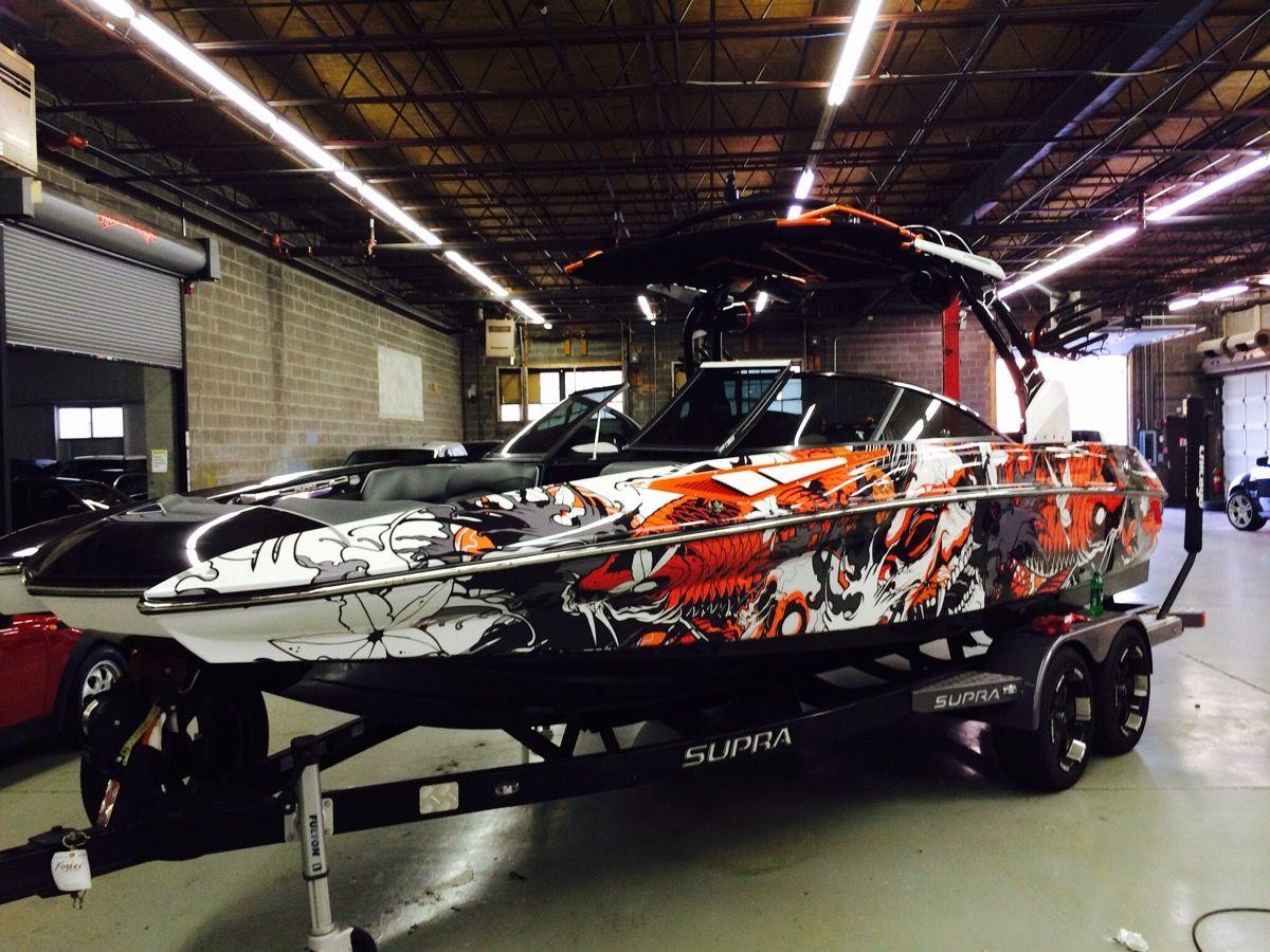 boat wraps vinyl boat
