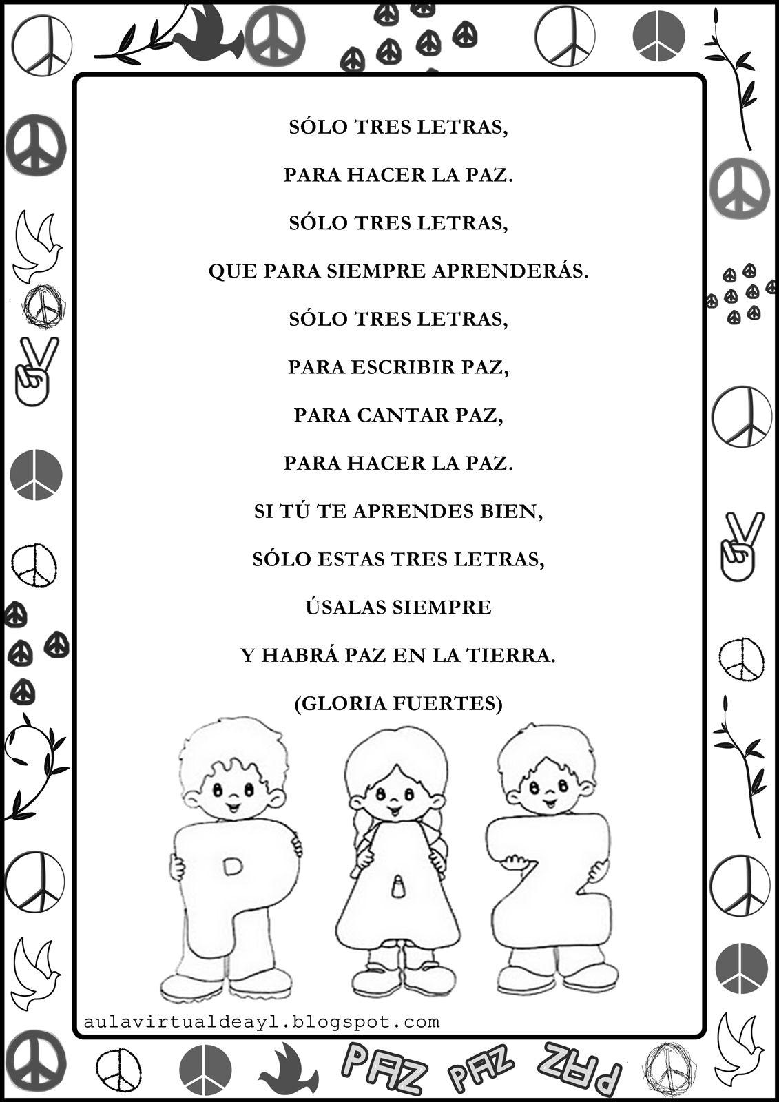 Poema De La Paz 2 Jpg 1131 1600 Poesia De La Paz Dia De La Paz Paz