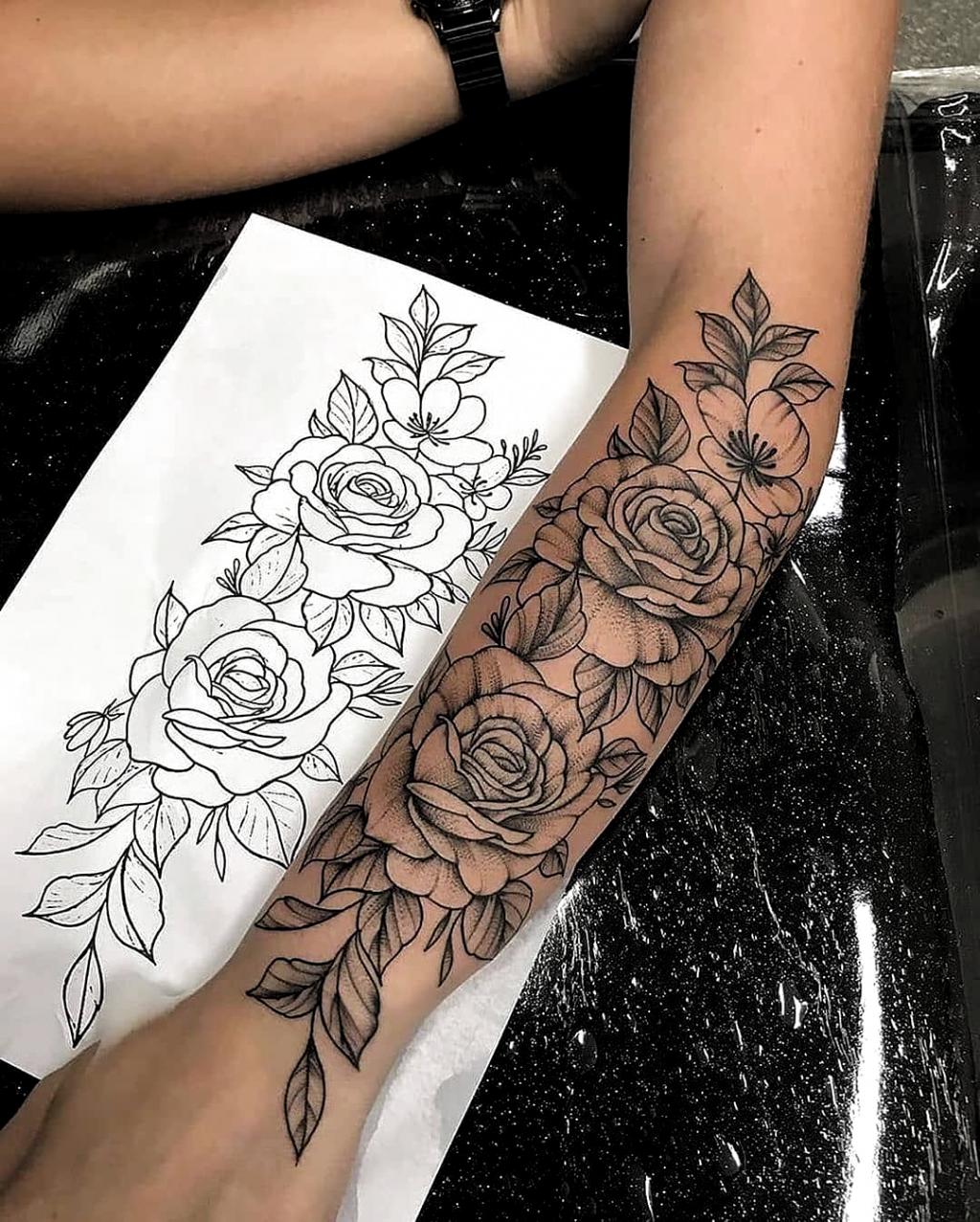 Blumen tattoos arm