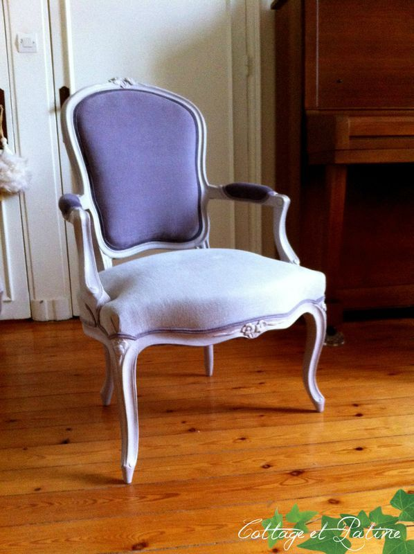 Fauteuil louis xv et salon louis xvi avant apr s cottage et patine le blog deco pinterest - Salon louis xvi ...