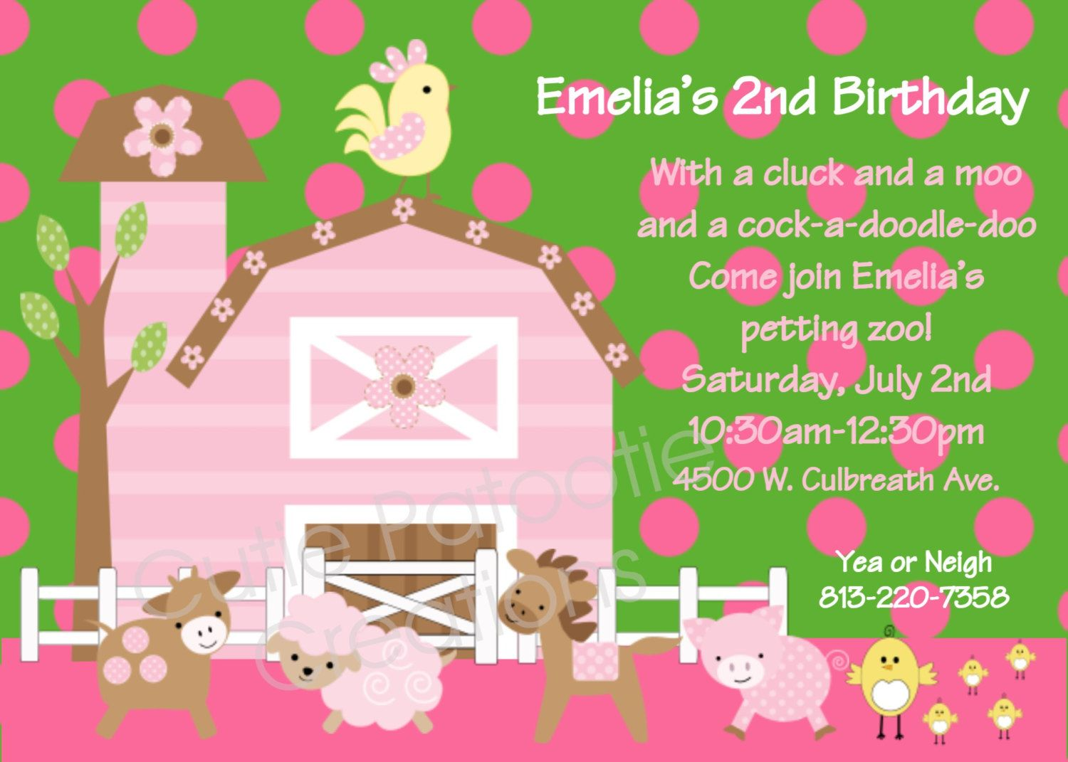 Farm birthday invitation printable or printed petting zoo party farm birthday invitation printable or printed petting zoo party birthday invitations girls birthday invite with or without photo stopboris Choice Image