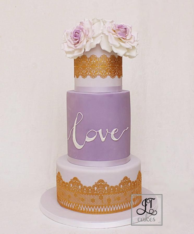 Lilac Wedding cake. by JT Cakes