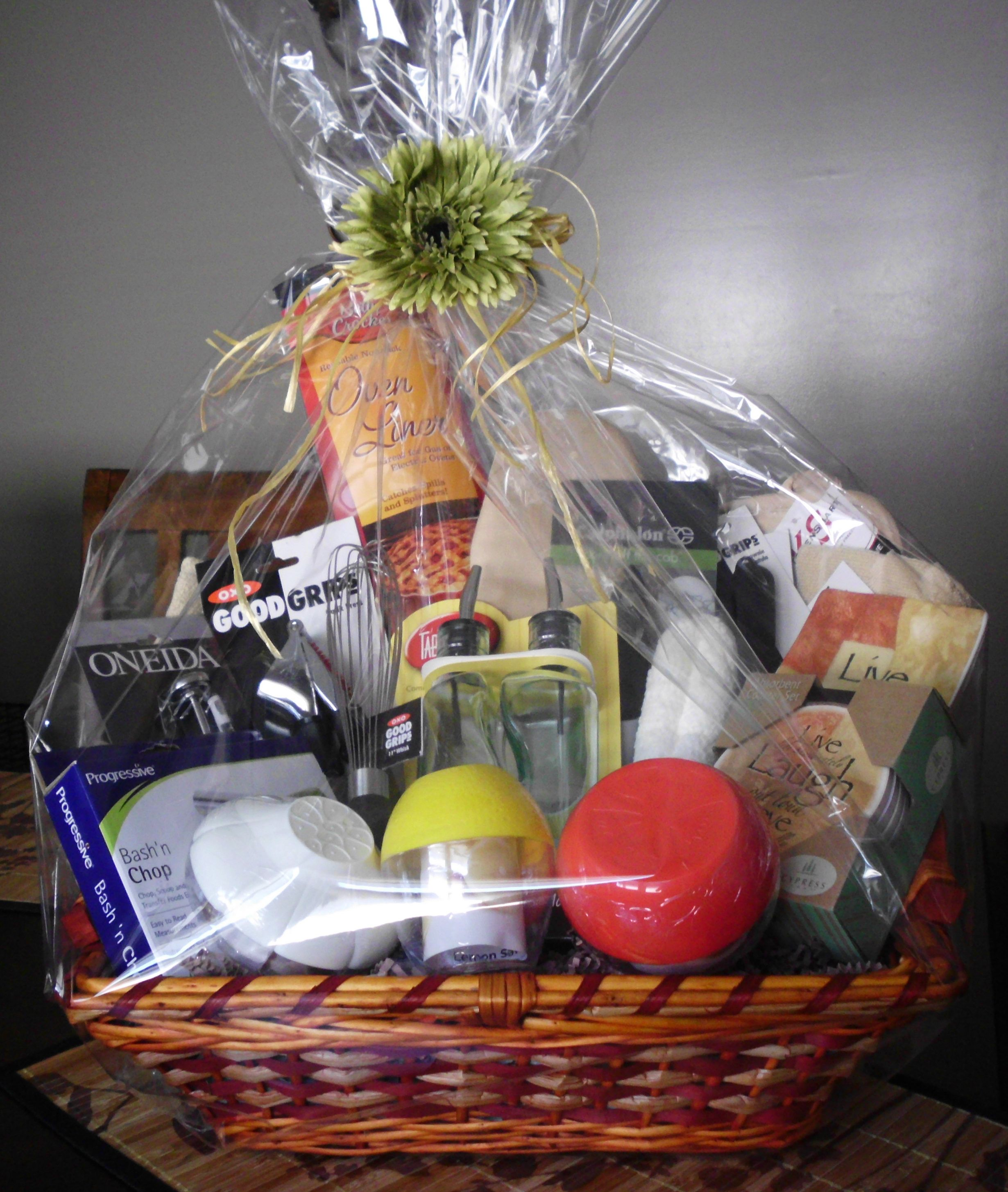 Bridal Shower Gift Basket Wrapped