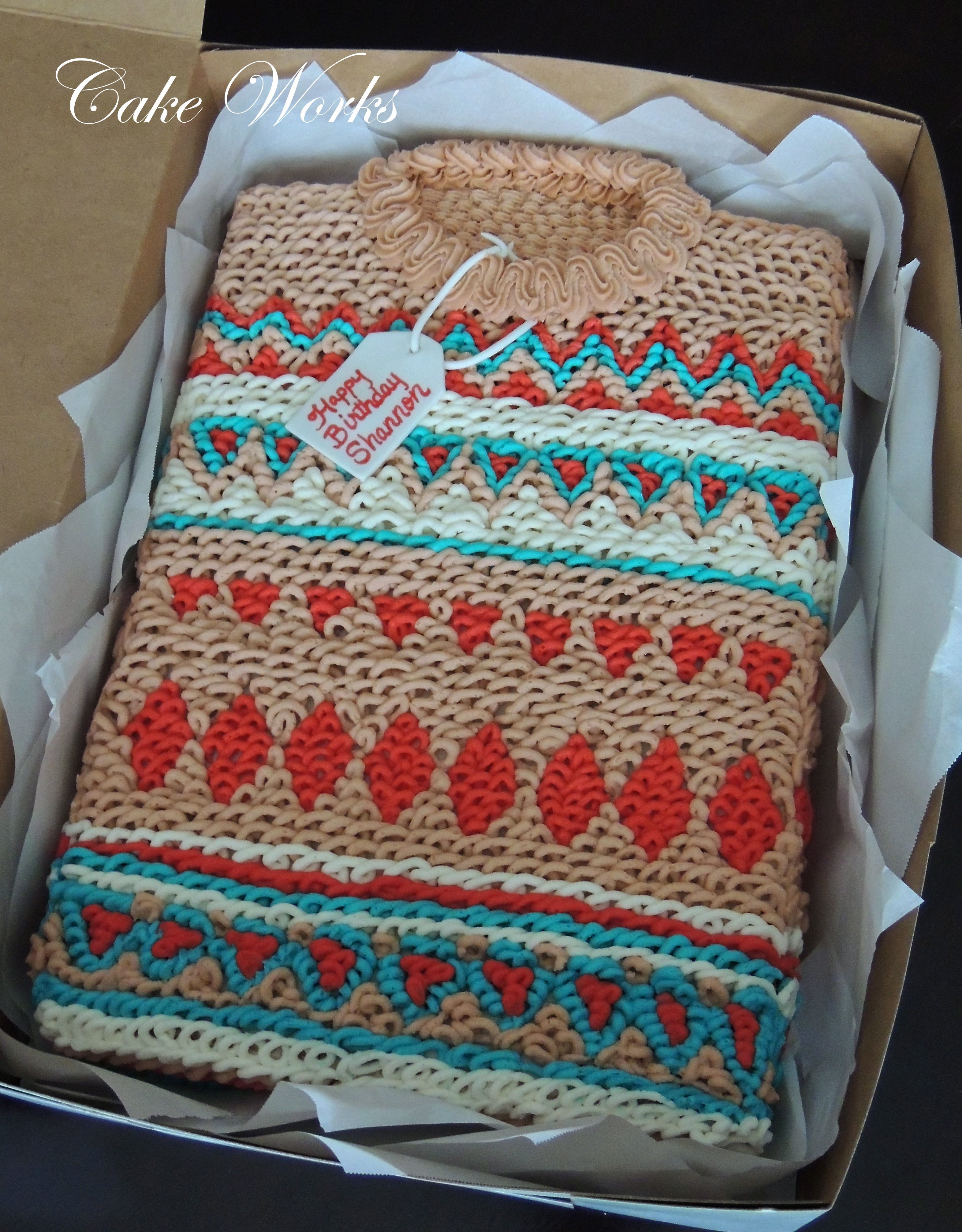Cake Boss Decorating Buttercream : Ugly Sweater Cake - Buttercream sweater cake for an ugly ...