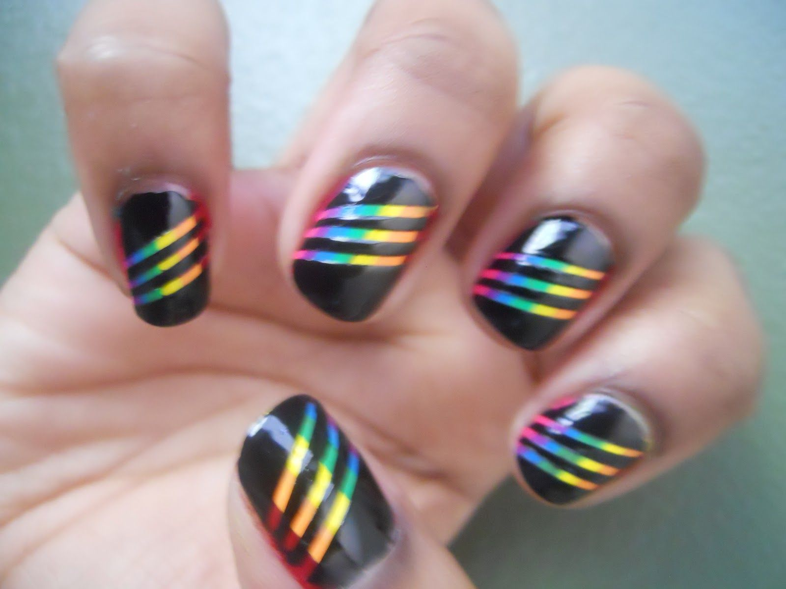 images of pretty nail polish designs nail polish anonymous somewhere theres a rainbow - Nail Polish Design Ideas