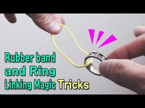 Photo of Rubber band and ring linking magic tricks