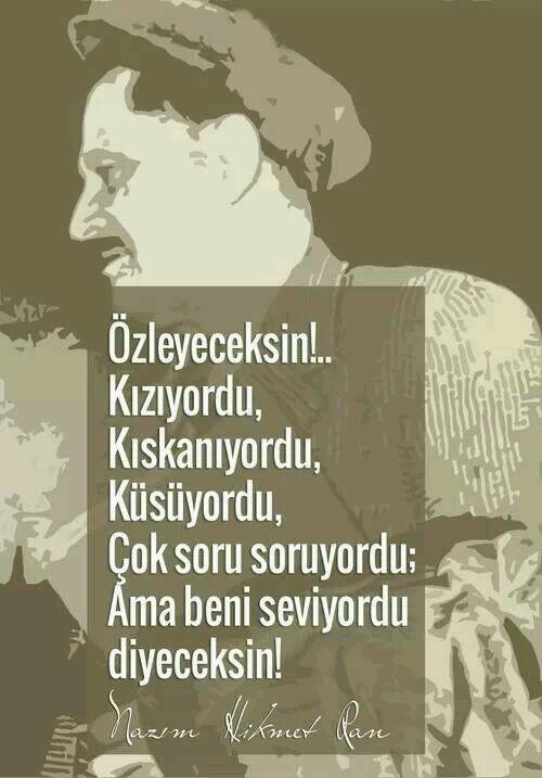 Hülya On şair Nazım Hikmet Ran Sprüche Nachdenkliche