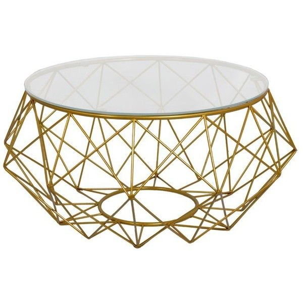 Diamond Wire Coffee Table ($355) ❤ liked on Polyvore featuring home ...