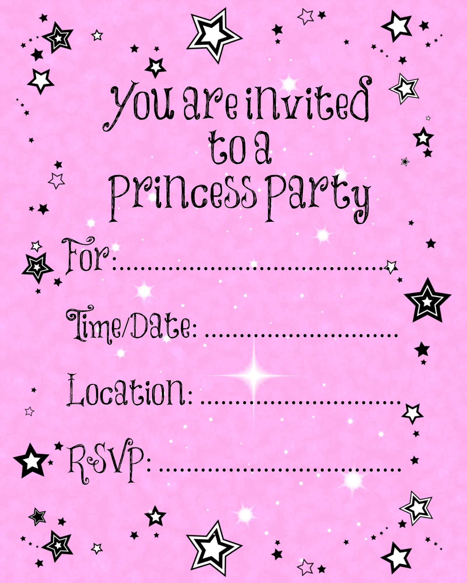 Free printable party invitations birthday invitation pinterest princess birthday invitations free invitation for you filmwisefo Images