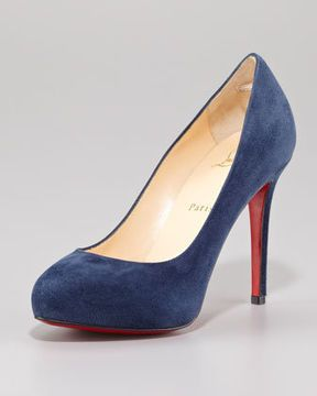 Christian Louboutin New Declic Suede Red Sole Pump on shopstyle.com