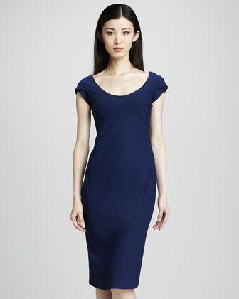 Scoop-Neck Sheath Dress by Zac Posen at Neiman Marcus.