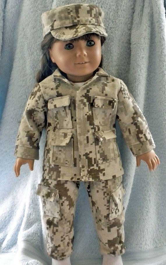"""Doll Clothes 18/"""" Boots Desert Camouflage Fits American Girl Dolls"""