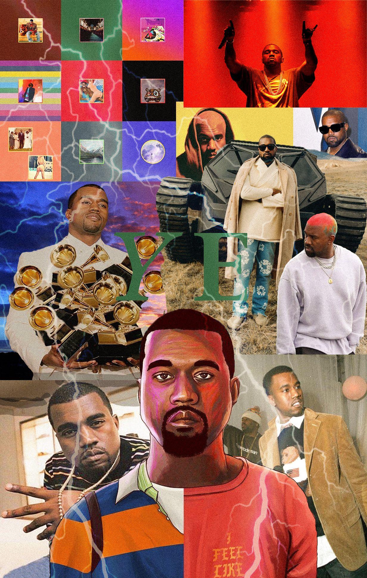 Kanye Collage In 2020 Kanye West Albums Kanye West Album Cover Album Art