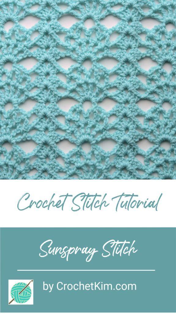 Sunspray Lace Free Crochet Stitch Tutorial