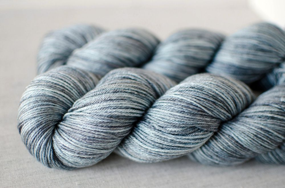 STARGAZER - 50/50 Merino/Silk Fingering Wt.   Orange Flower hand-dyed yarn
