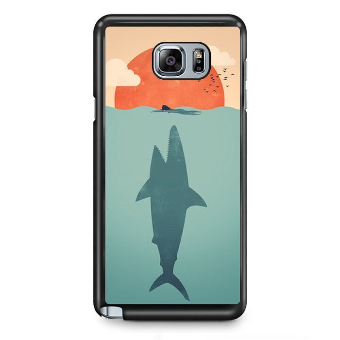 Shark Attacks Swimming Woman TATUM-9507 Samsung Phonecase Cover Samsung Galaxy Note 2 Note 3 Note 4 Note 5 Note Edge