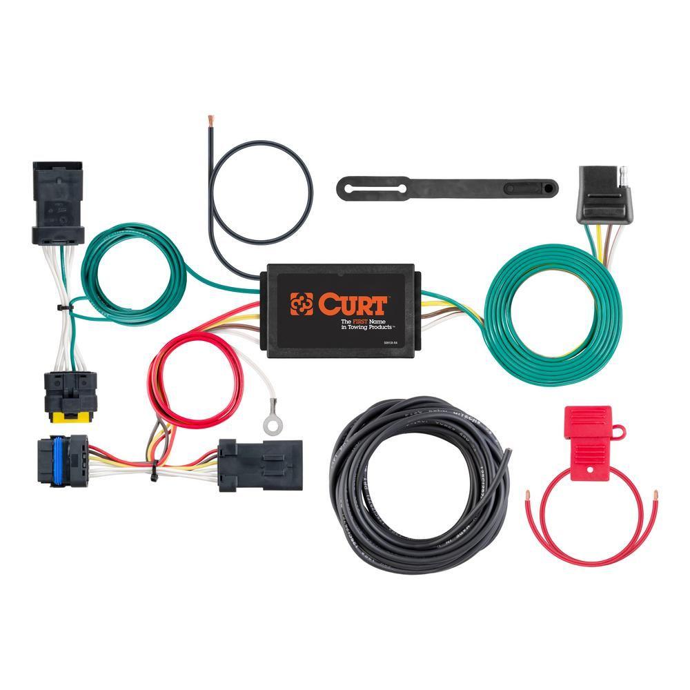 Curt Custom Wiring Harness 4 Way Flat Output Custom Trucks