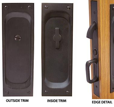 Emtek Products Inc 2105 Privacy Emtek Classic Solid Brass Mortise Pocket Door Privacy Latch The Hardware Hut Pocket Door Hardware Pocket Doors Emtek