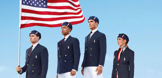 Take a peek at this year's Olympic collection by Ralph Lauren with US gymnasts.