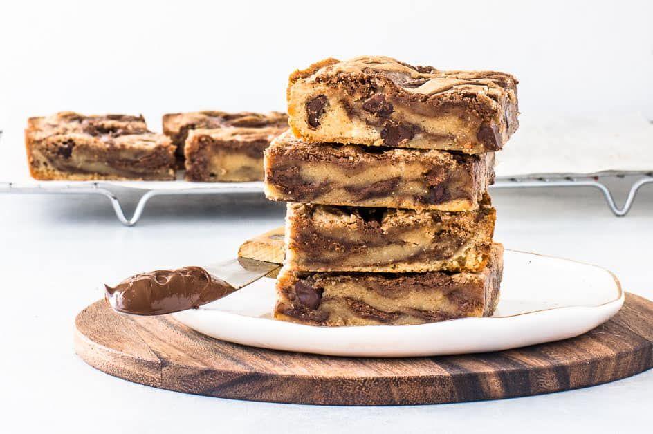 Easy nutella bars recipe nutella bar bakery recipes