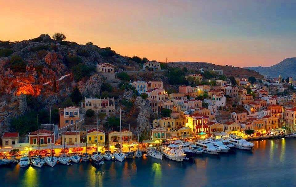 Simi island. Friends good night and love from Greece!!!