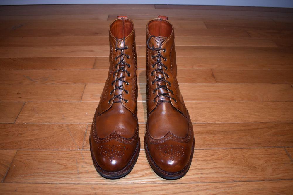 f3d042d4174 Allen Edmonds Dalton Boots 13D Walnut With Dainite Sole EUC  fashion   clothing  shoes
