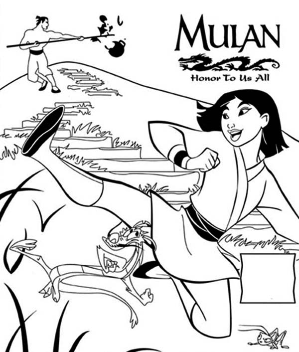 Mulan Movie Poster Honor To Us All Coloring Page Download Print Online Coloring Pages For Free Color Nimbus In 2020 Mulan Movie Coloring Pages Mulan