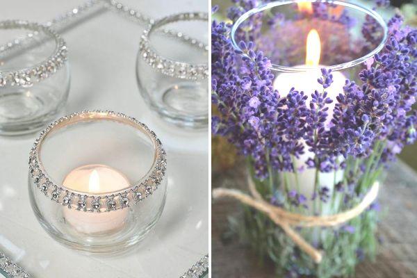 DIY Wedding Reception Table Centrepieces