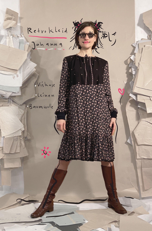 Retro-Kleid Johanna in 2020 | Kleid mit ärmel, Kleider ...