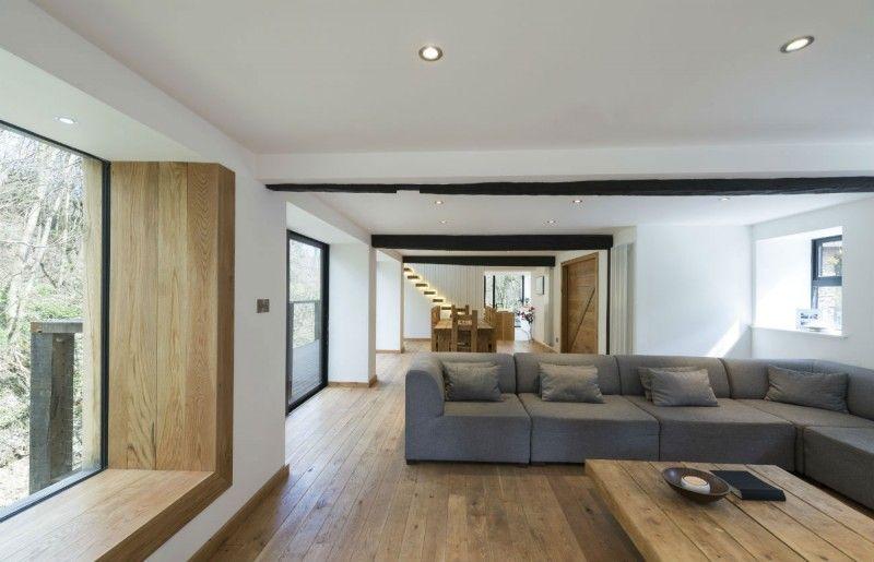 The Berwyn Mill Sitzfenster, Wohnzimmer und Fenster - moderne holzdecken wohnzimmer
