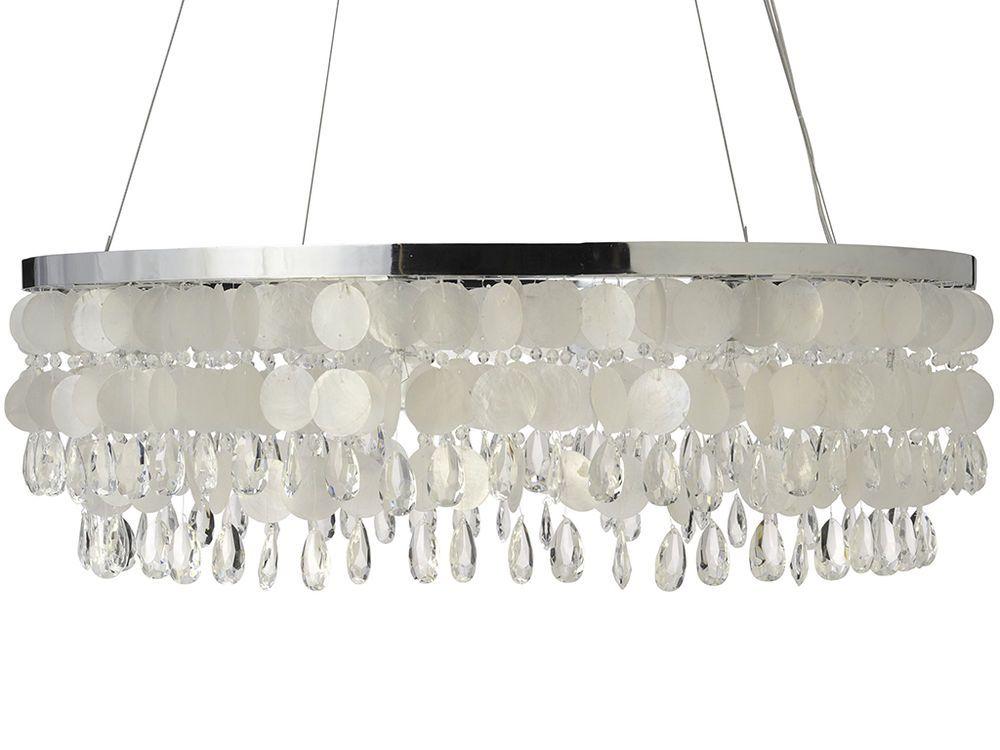 Capiz ring chandelier crystal and capiz seashell 315 x