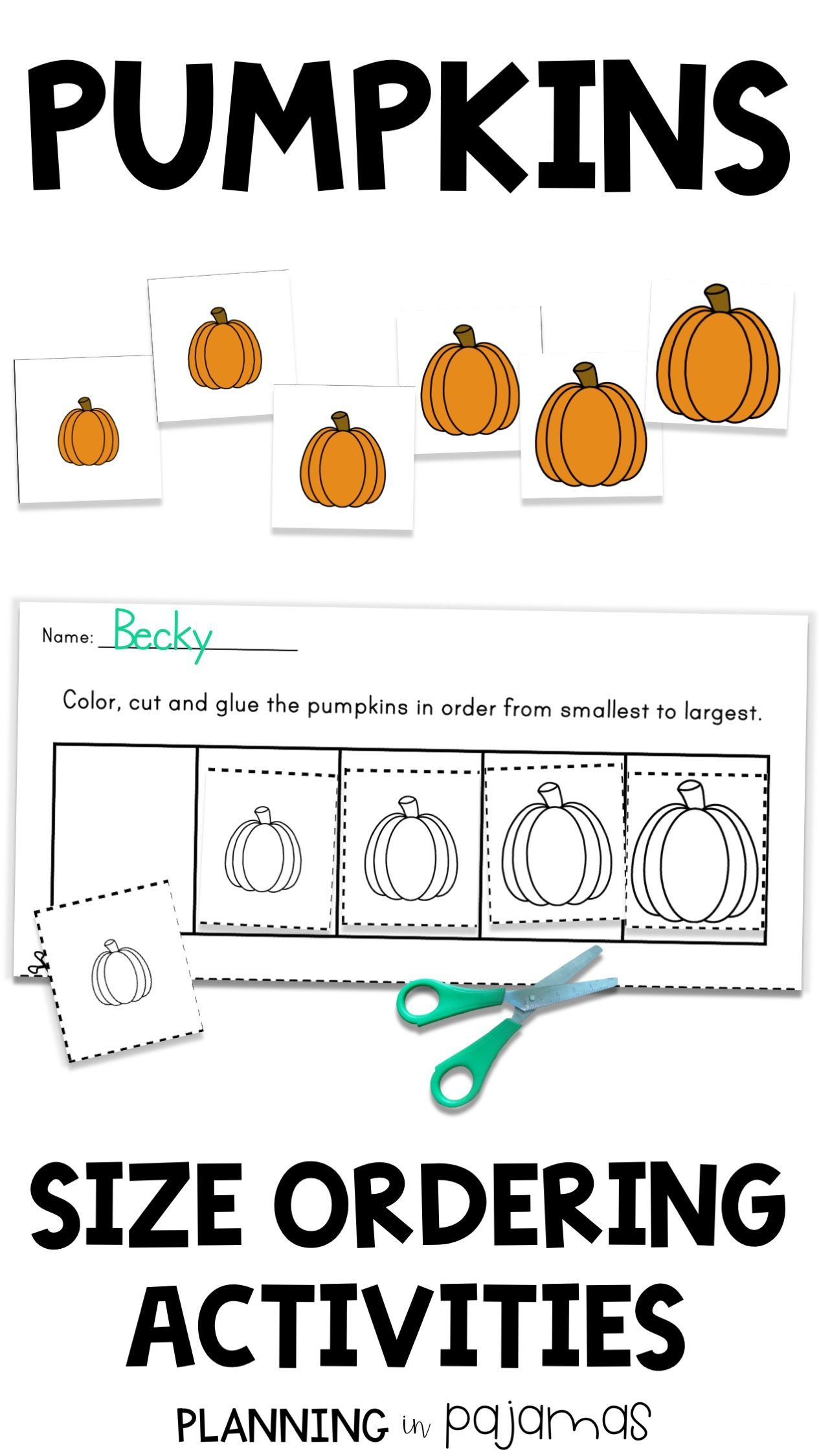Pumpkins Size Ordering From Smallest To Largest In