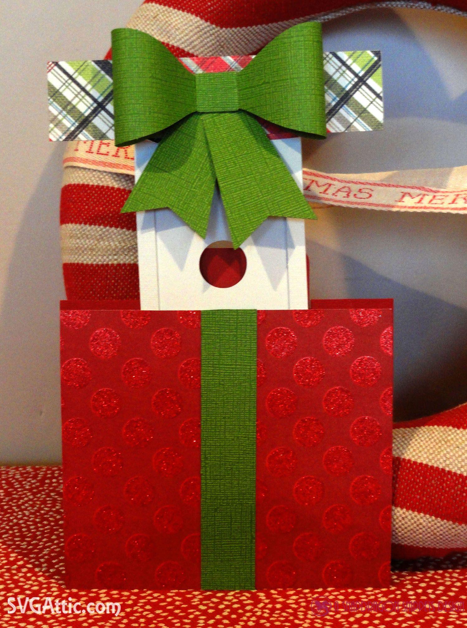 Present hidden gift card holder from JGW Ho Ho Holiday set