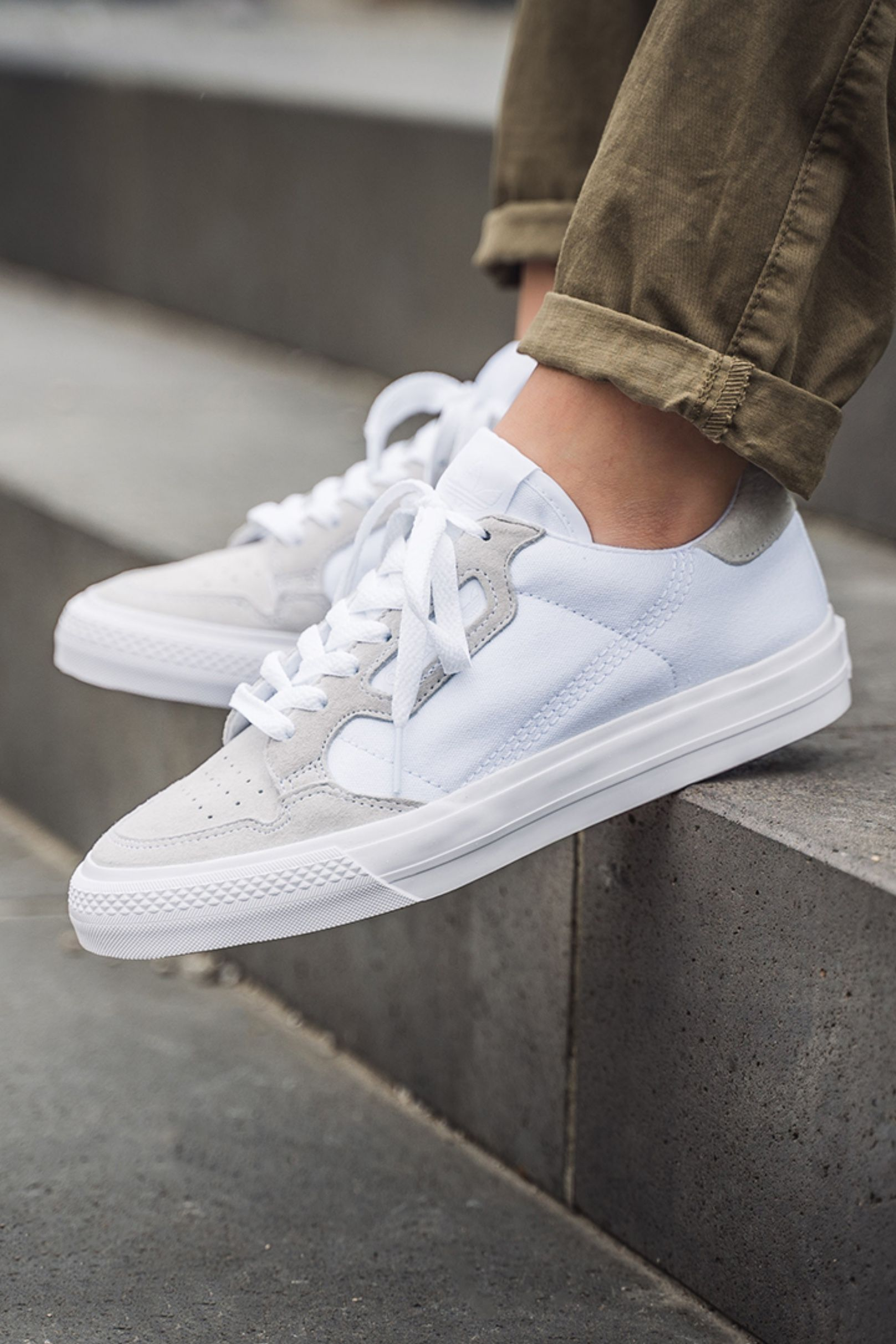 adidas Continental Vulc (white beige) in 2020 Blanc  White