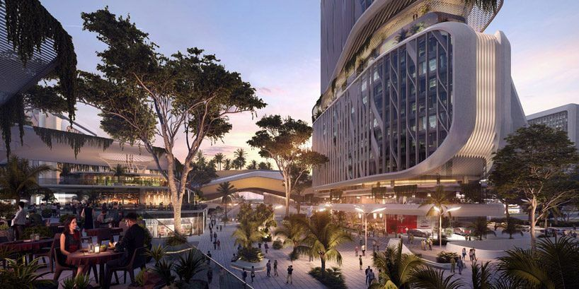 Unstudio Masterplans Bangalore S Karle Town Centre As A Hub For Tech Innovation In India Designboom Urban Heat Island Bangalore Landscape Architect