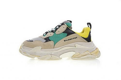 8cfdfd503f94 2019 的 Balenciaga Triple S Sneakers Yellow Green