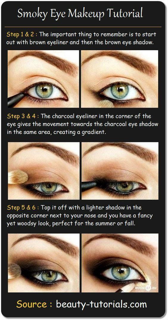 Smokey Eye Makeup For Blue Eyes Step By Step Abc Pinterest