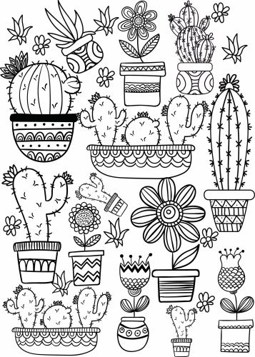Intrepid image for free printable cactus coloring pages
