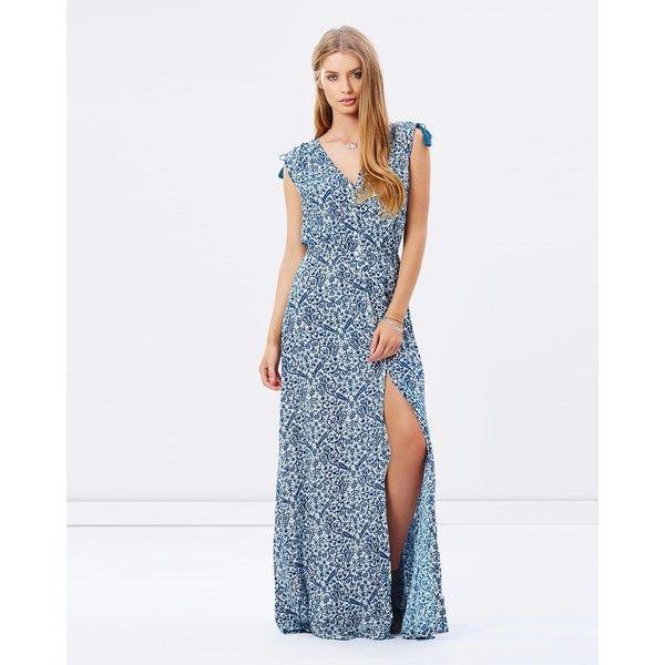 Tigerlily Kira Maxi Dress Tigerlily Dress Turquoise Blue Dress Maxi Dress