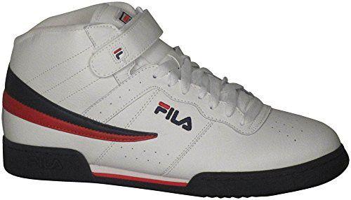 Fila Men's F 13v LeaSyn Fashion Sneaker, WhiteFila Navy