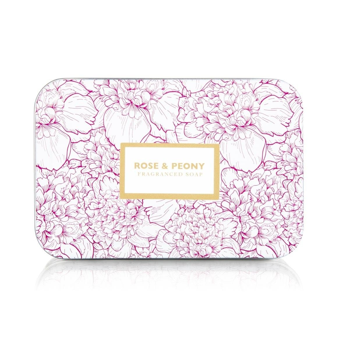 Rose & Peony Soap and the pretty tin can be used for bits and bobs.