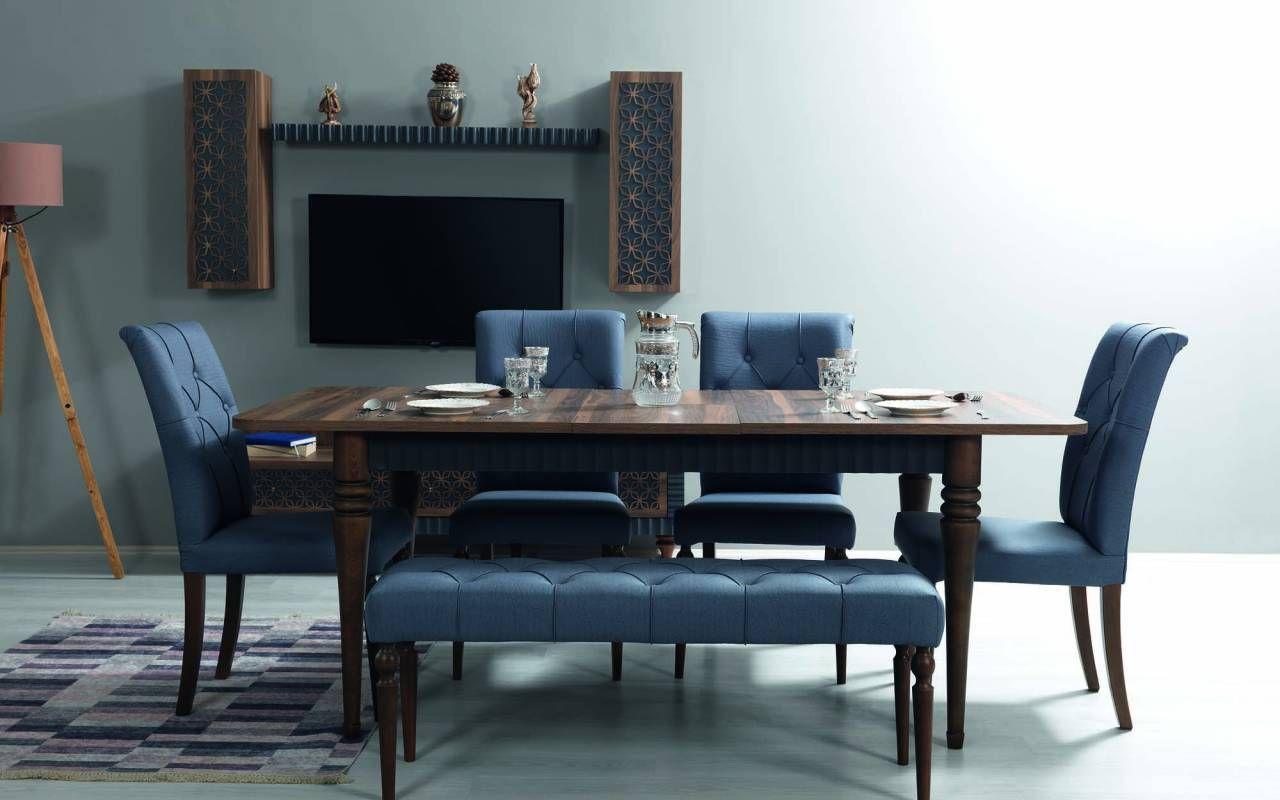 Sipstar Modern Blue Dining Room Furniture Set Yeniexpo Digital