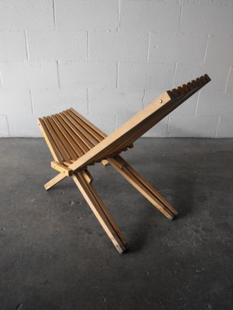 Vintage Mid Century Danish Modern Wood Slat Folding Deck Lounge Chair |  Clam Chairs | Pinterest | Wood Slats, Danish And Decking.