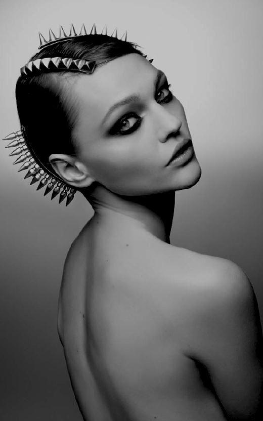 Sasha Pivovarova for Maison Michel F/W 2011 © nothingpersonal UK