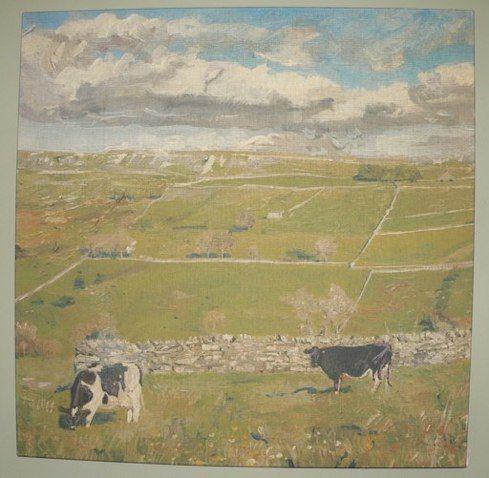 #1158 Hockney Cows 35 x 35