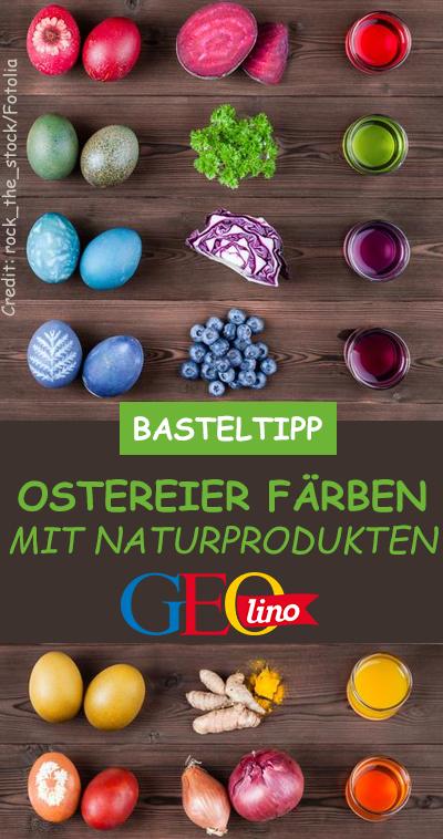 Wie ihr Ostereier natürlich färben könnt, zeigen wir euch auf GEOlino.de! Frohe Oster und viel Spaß! #ostereier #eier #ostern #frühling #basteln #naturmaterialien #eierfärben #osterbasteln