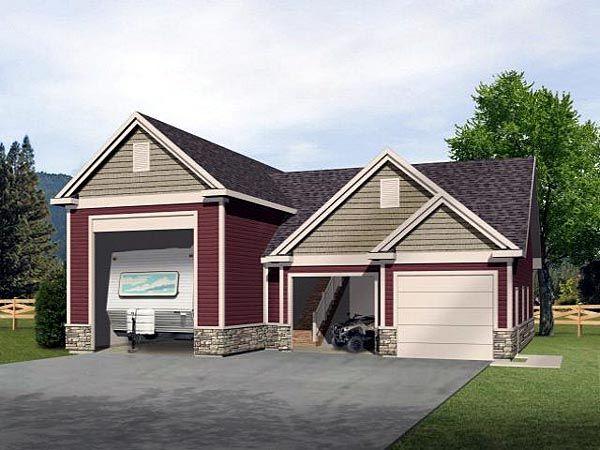 Garage Plan Chp 21984 At Coolhouseplans Com Garage Plans Garage Apartments Garage Loft