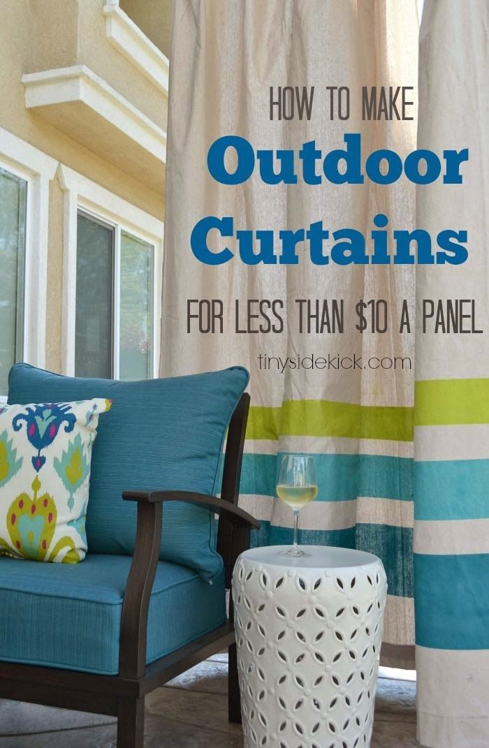 Charmant This Outdoor Living Room Is Amazing And Has So Many Smart (budget Friendly)  Ideas Like These Outdoor Curtains Made From Drop Cloths!