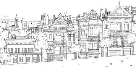 Раскраска-антистресс город - Раскраски для детей | Книжка ...